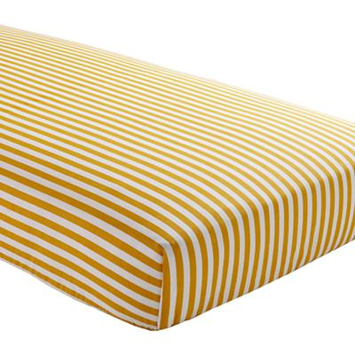 Not a Peep Crib Fitted Sheet (Yellow Stripe)